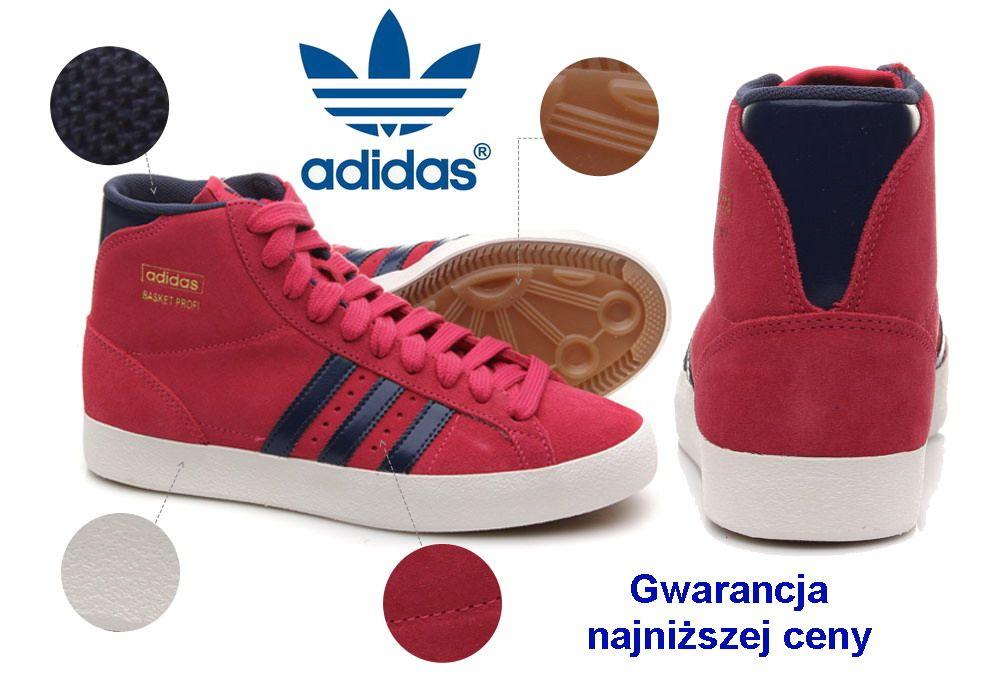 Adidas Basket Profi Buty Sportowe Damskie 40 2 3 5633454537 Oficjalne Archiwum Allegro Running Shoes Shoes Wedge Sneaker