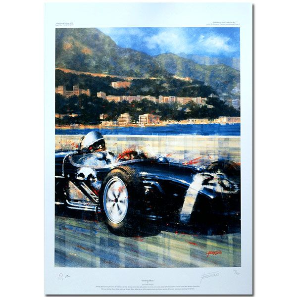 Stirling Moss (Monaco Grand Prix 1961 / Lotus 18) by Juan Carlos Ferrigno Limited Edition Print