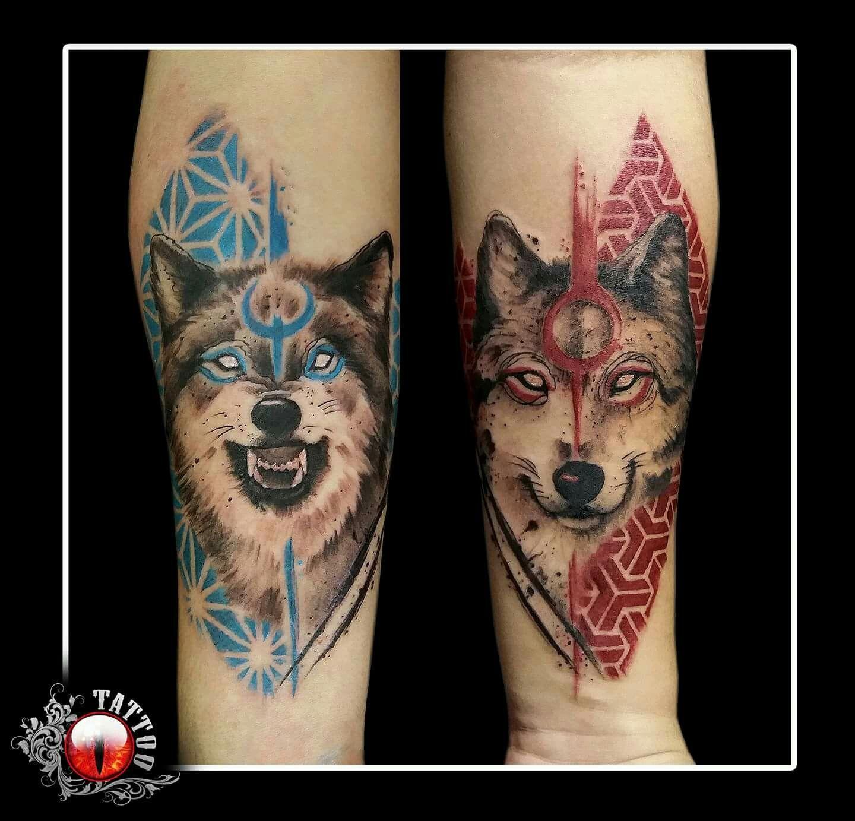 Tatuajes De Lobos En Pareja