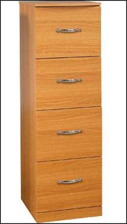 Z Line 4 Drawer Vertical File Cabinet Cherry Filing Cabinet