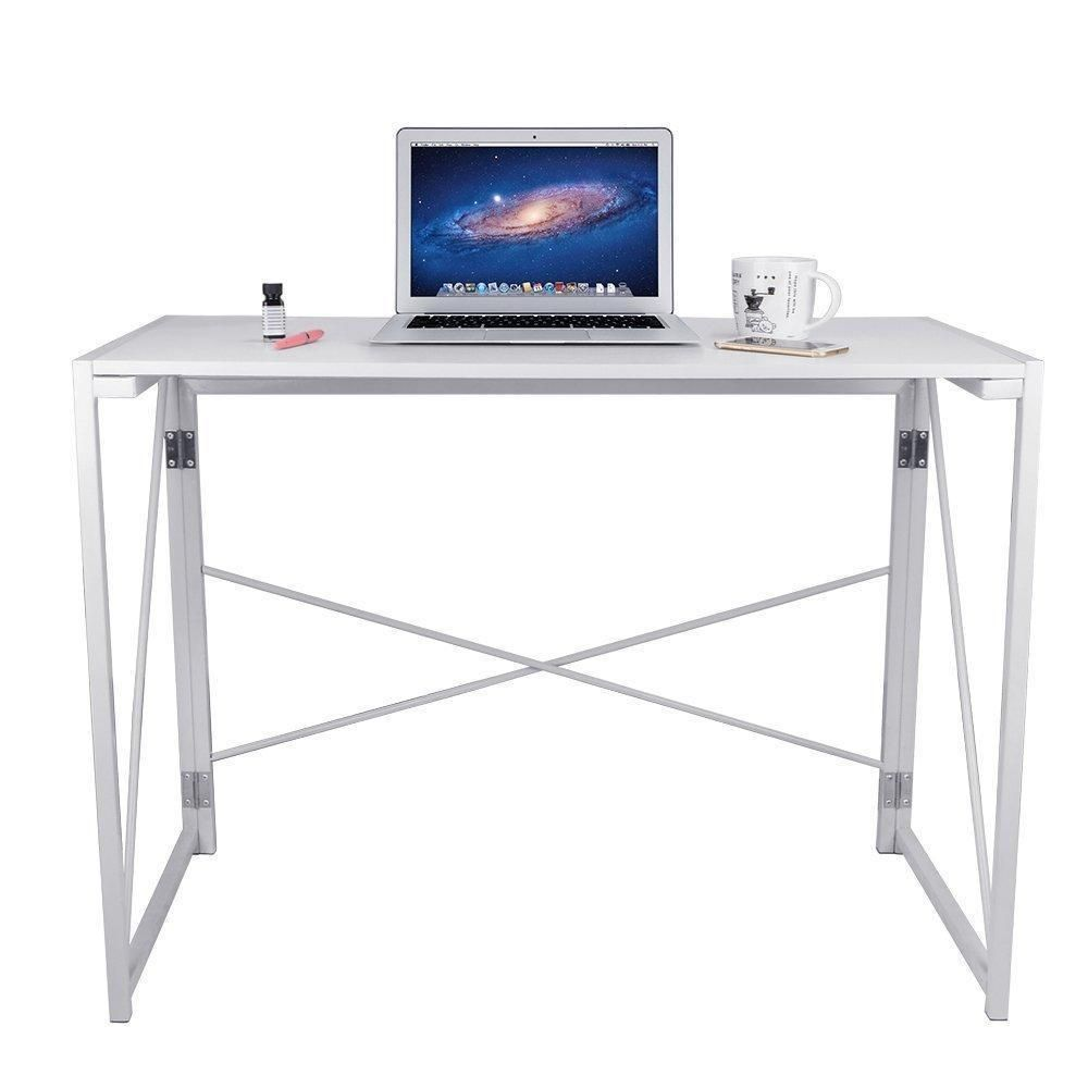 foldable office desk. Foldable Computer Table Folding Desk Study Office 100x48x75 #FoldableComputerTable #Contemporary # S