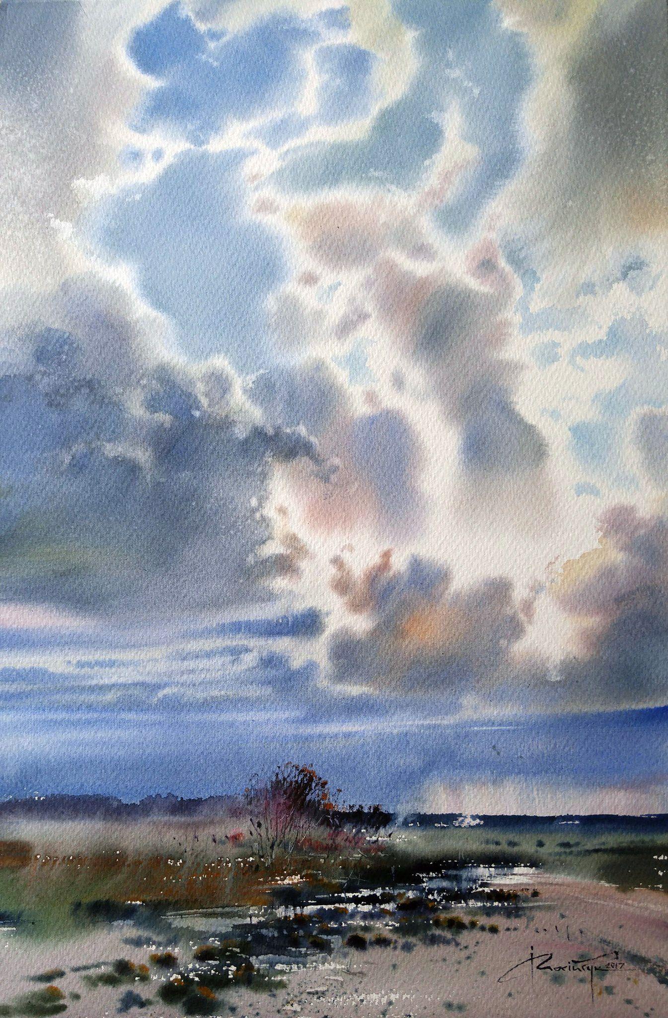 Igor Mosiychuk Peinture Paysage Paysage Aquarelle