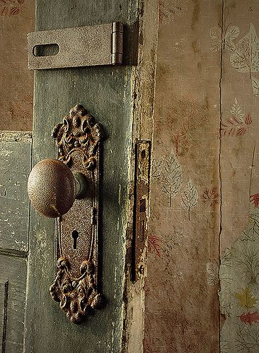 Antique Door Knob And Plate