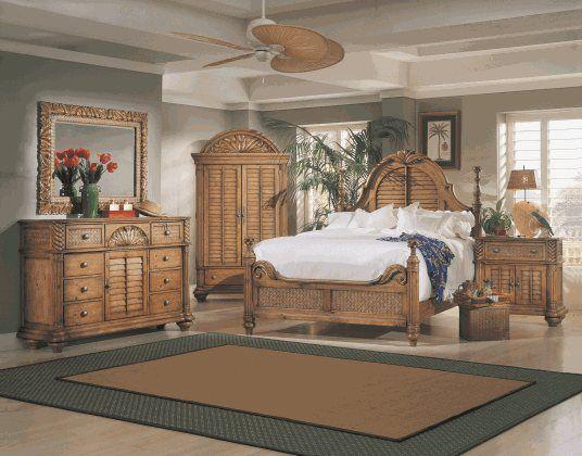 Palm Court King Bedroom With Door Dresser Bedroom Sets
