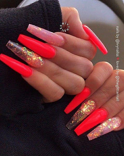 Top 100 Acrylic Nail Designs Of May 2019 Web Page 57 Long Red Acrylic Nails Design Red Acrylic Nails Long Acrylic Nails Coffin Acrylic Nail Designs