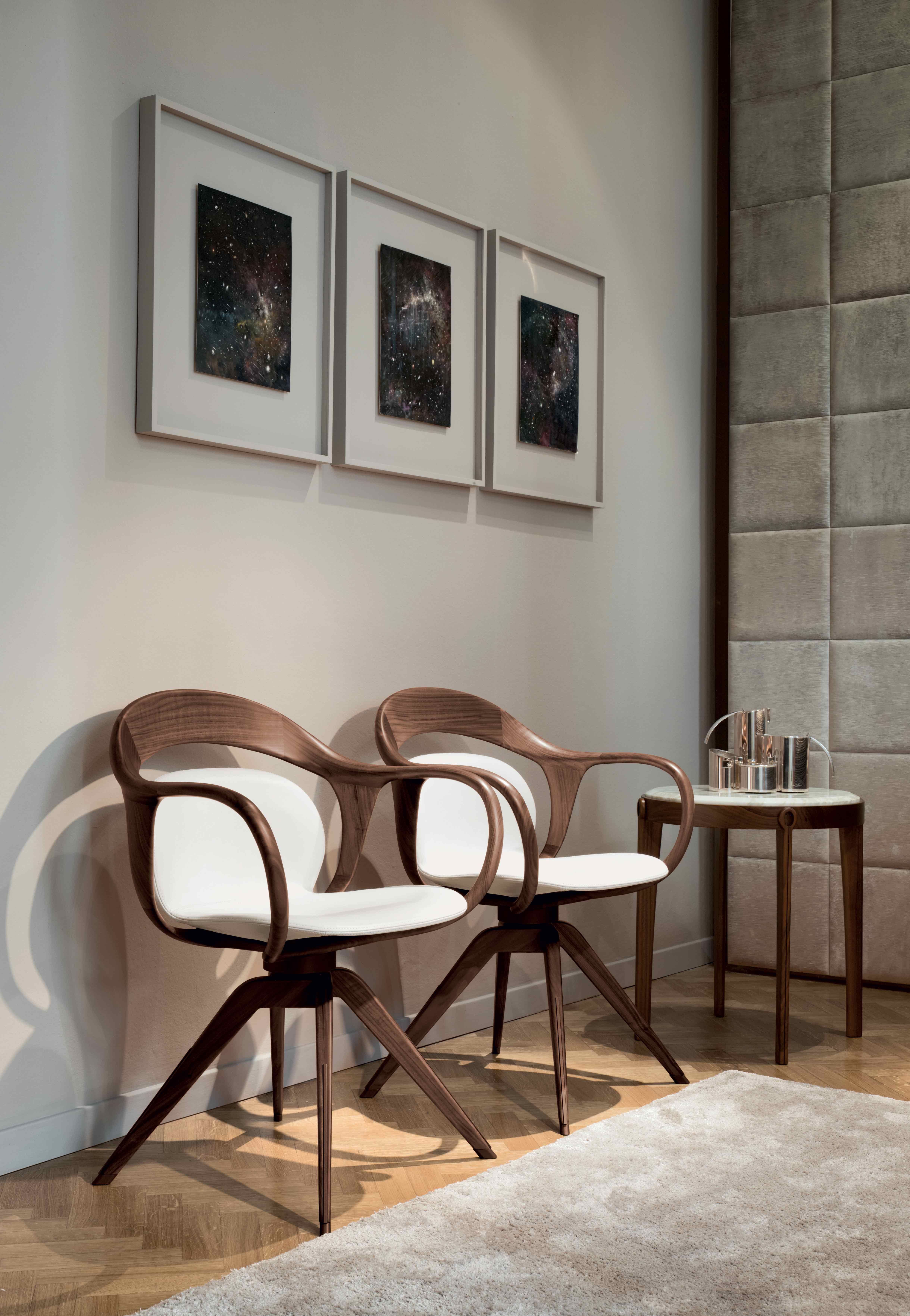 About A Chair 22 Armchair.Norah Chair 22 Pieces In Solid Walnut Canaletto Wood Create The