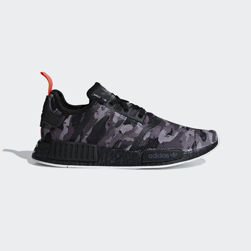 c10fa4791def7 fashion Adidas Originals Nmd R1 Boost Camo Black NYC Limited New Men Shoes  Gym G28414