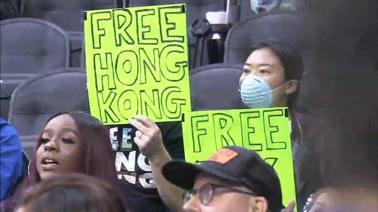 'Free Hong Kong' chants get fans kicked out of NBA