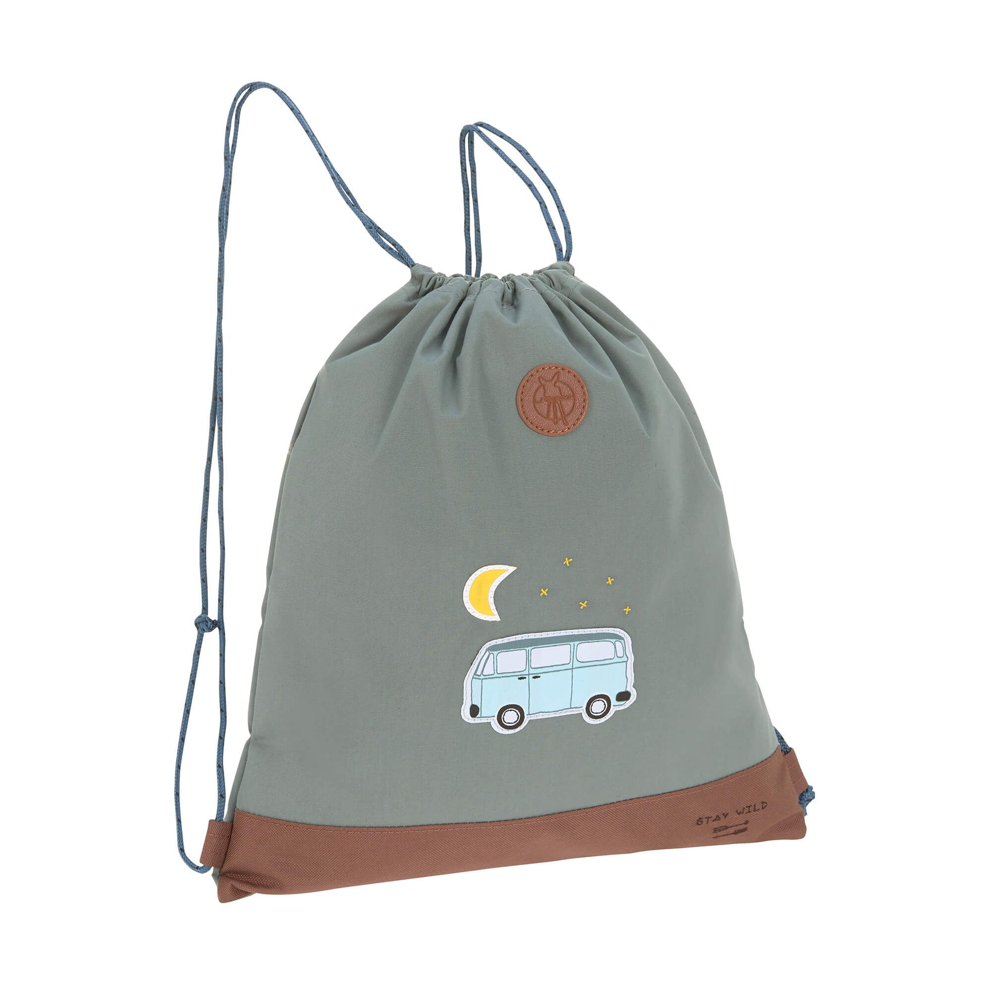 f632d57316c21 Trendiger Turnbeutel als Alternative zu Sporttaschen für Kinder. Der  Turnbeutel ist ein cooler Begleiter auf