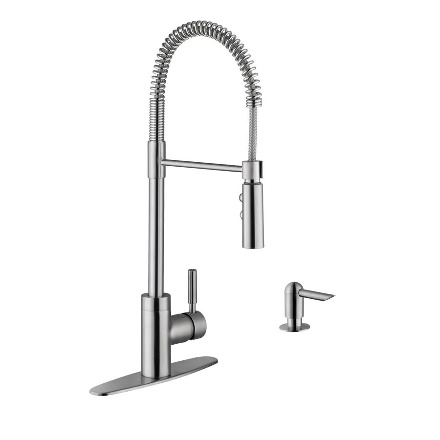 Superior Sinks Stainless Steel 1 Handle Handle Deck Mount Pre Rinse Kitchen  Faucet