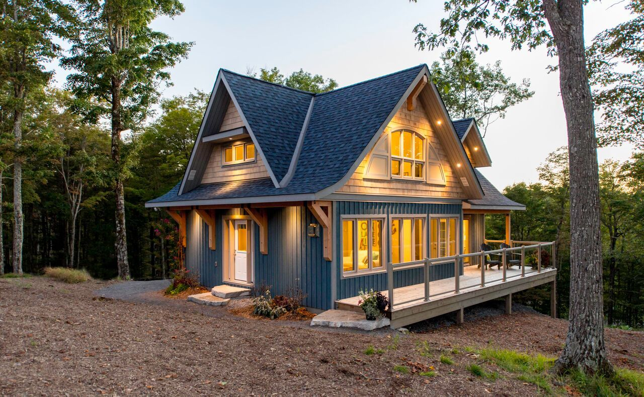 Perfect Cozy Custom Cottage Design Lake Houses Exterior Small Lake Houses Linwood Homes