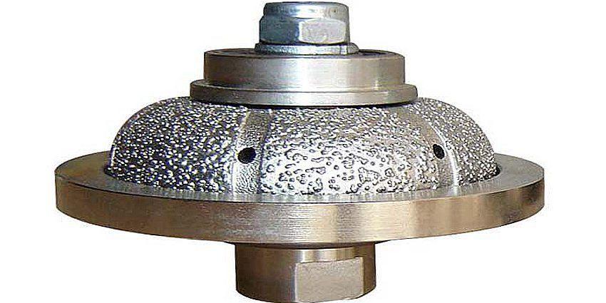 Good Quality Moletta Sagomata Mezzo Toro Marmo Diamond Router Bits Semi Bullnose Haakse Slijper Natuursteen Frezen