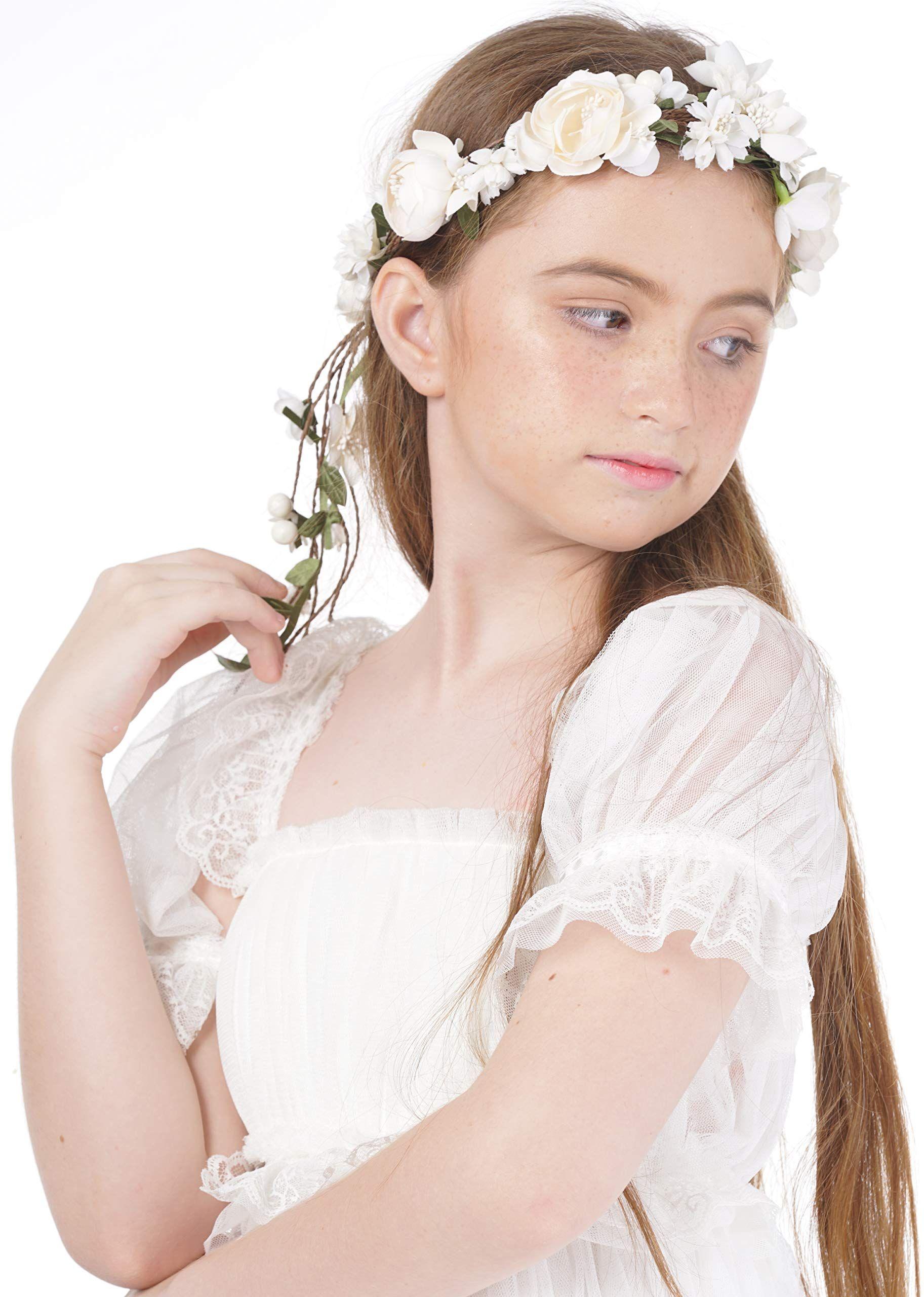 vintage flower girl headpiece diy hair accessories for