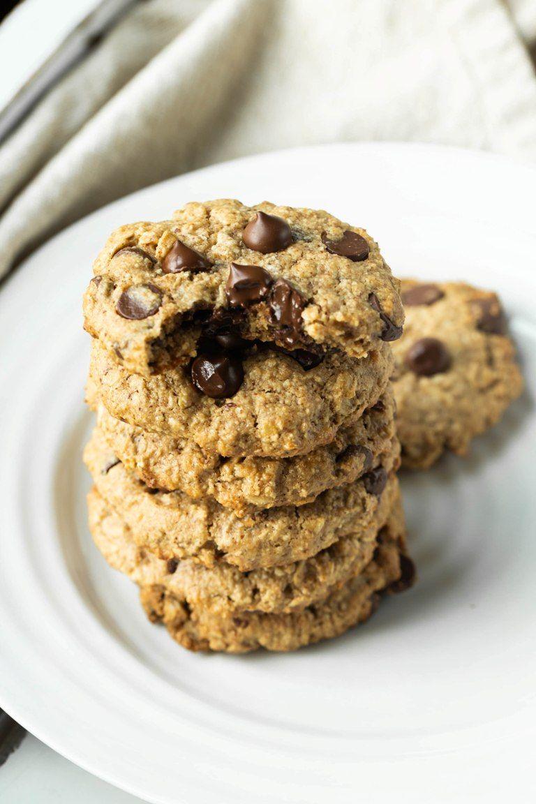 Vegan Oatmeal Chocolate Chip Cookies Gluten Free Recipe Oatmeal Chocolate Chip Cookies Homemade Peanut Butter Protein Cookies
