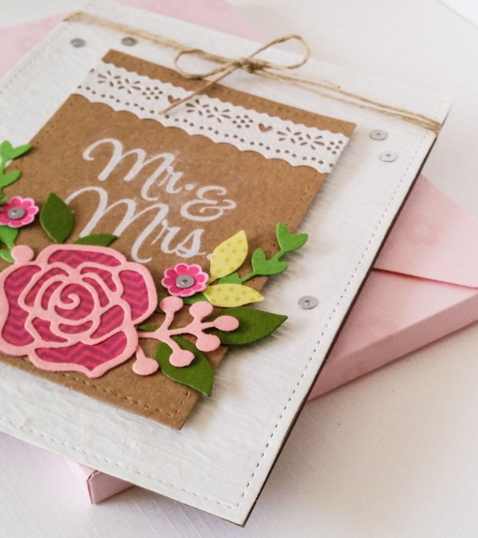 FLORAL WEDDING CARD, Romantic Wedding Card, Wedding Gift