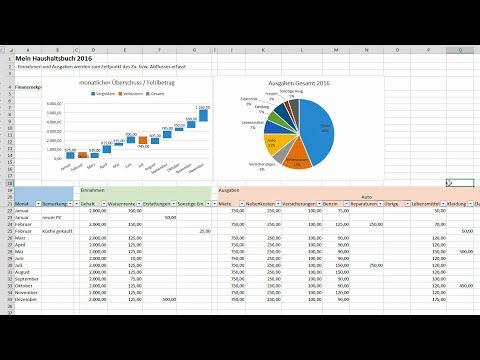 Excel Haushaltsbuch Erstellen Finanzen Im Blick Behalten Tutorial