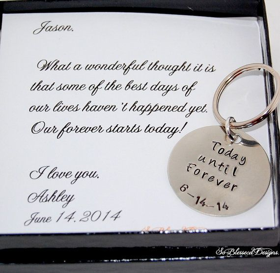 Grooms Gift From Bride Key Chain Bride To Groom Gift On Etsy In 2020 Groom Gift Wedding Day Groom Gift Wedding Day Gifts