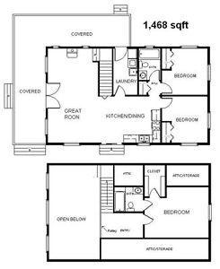 Country Classic Cabin W Loft 24x40 Plans Package Blueprints