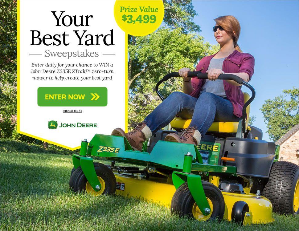 BHG com | sweepstakes | Zero turn mowers, Chickens backyard