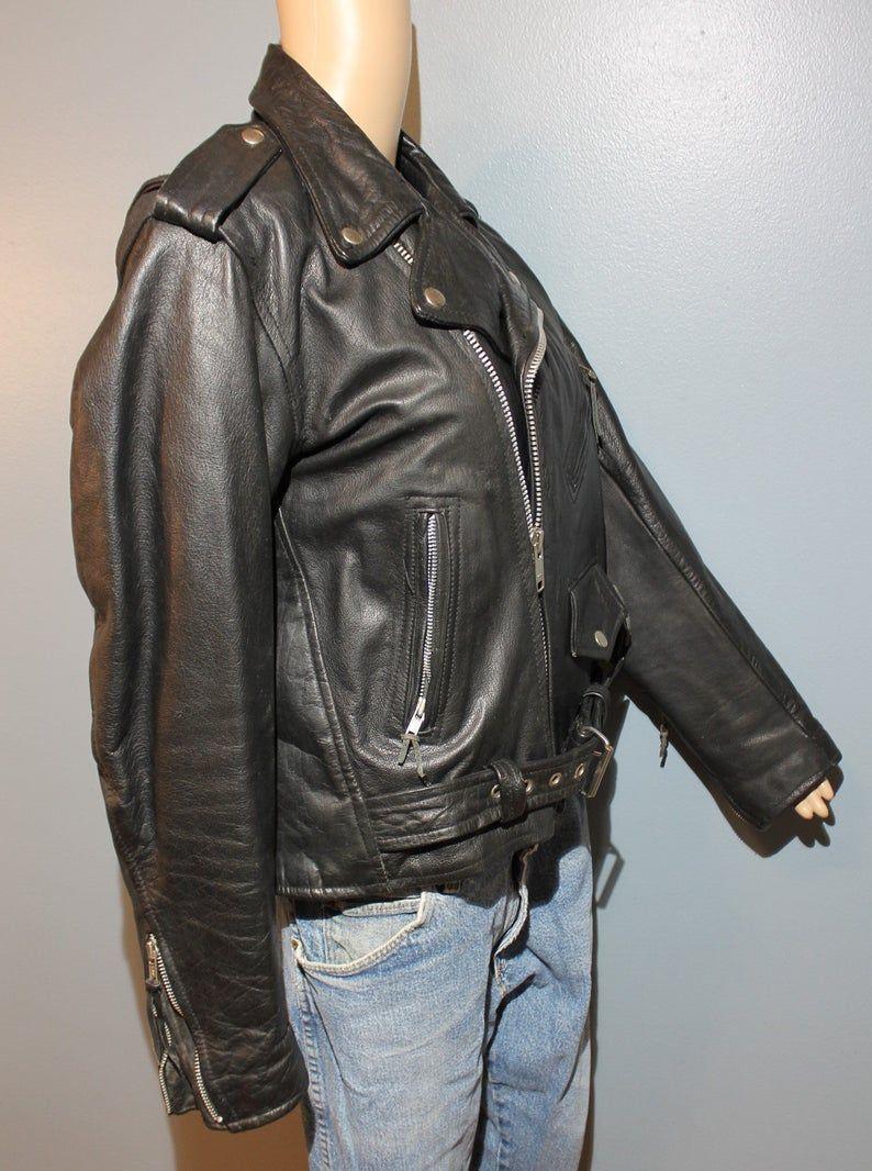 Vintage 1960 S 1970 S Unik International Black Leather Etsy Oxford Shirt Women Vintage Outfits Trending Outfits