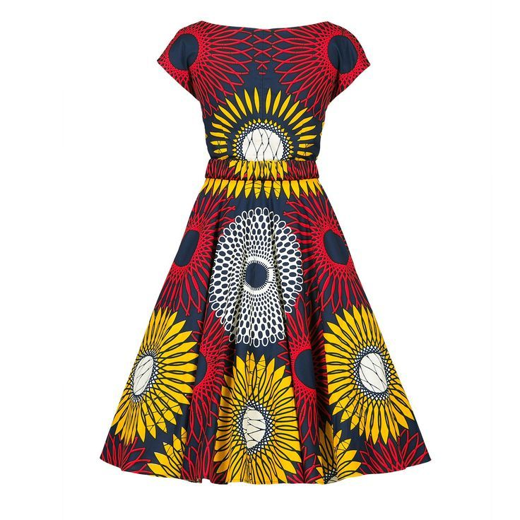 Lena Hoschek Makeba dress. I love this! I want to make something similar using the By Hand London Anna bodice and a circle skirt
