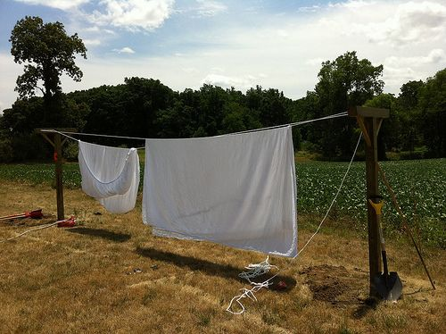 How To Make A Clothesline Magnificent How To Make A Clotheslinebeen Needing One For A Couple Years Now Inspiration Design
