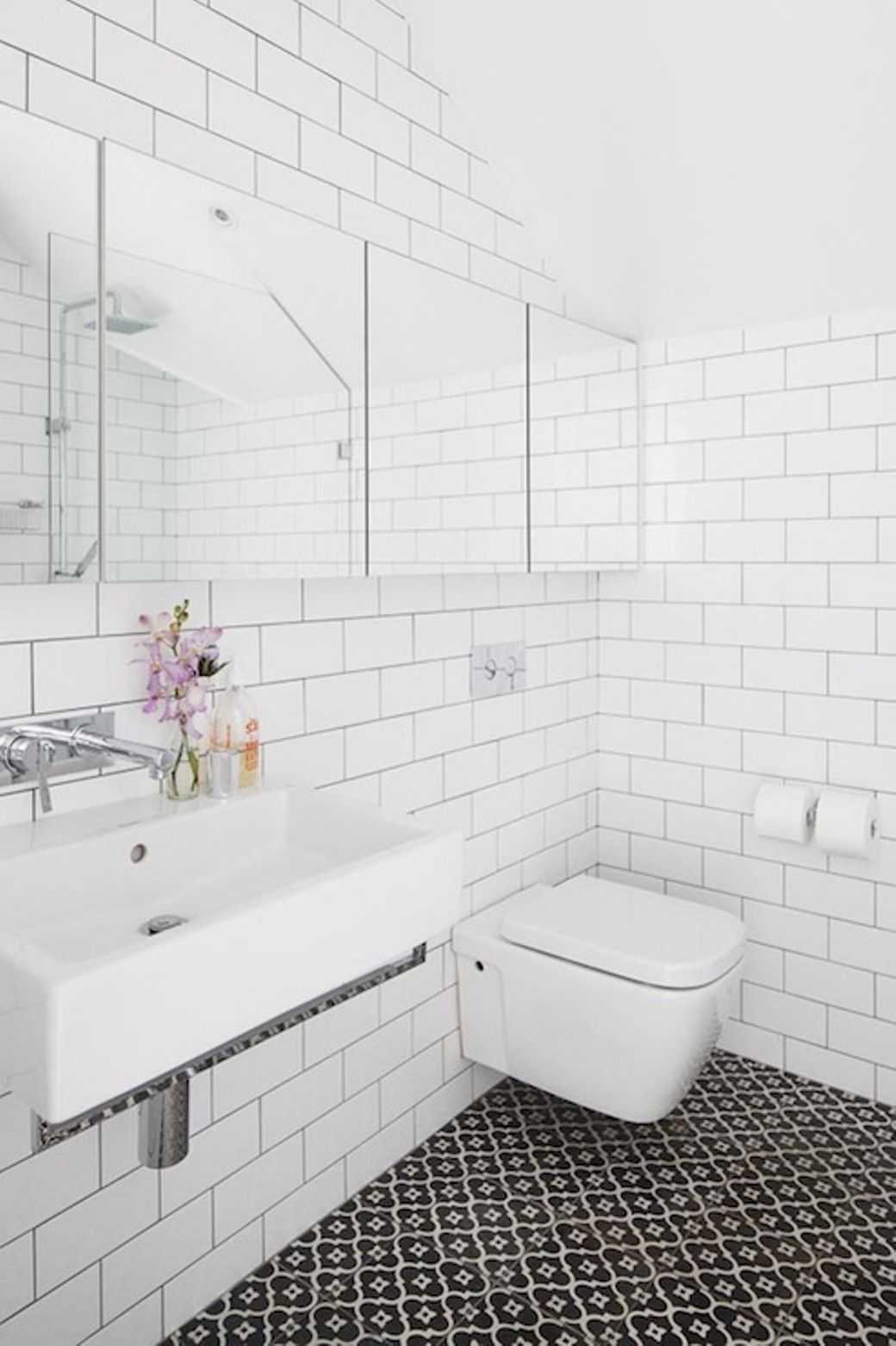 White Subway Tile Bathroom Wall | 6041 interior | Pinterest | Subway ...