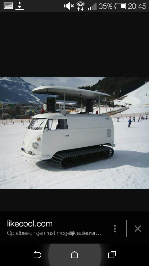 Haha, this van would be great in the snowy mountains!
