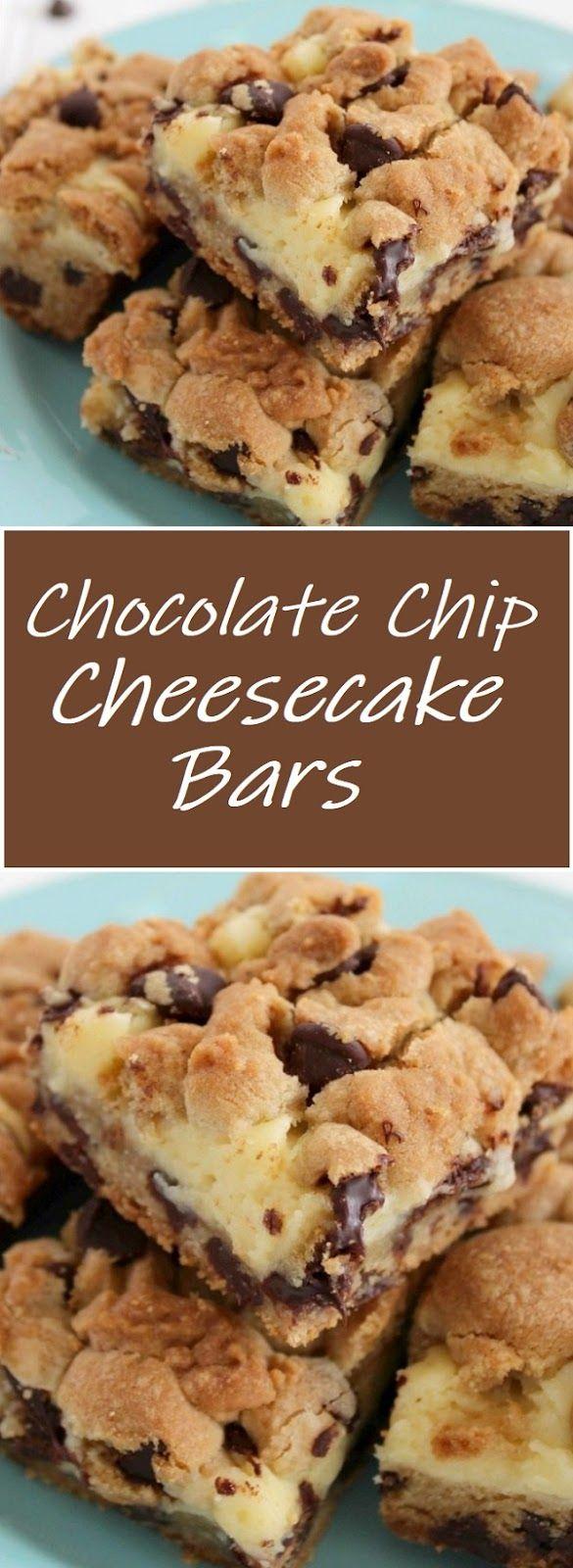Chocolate Chip Cheesecake Bars Chocolate Chip Cheesecake Bars