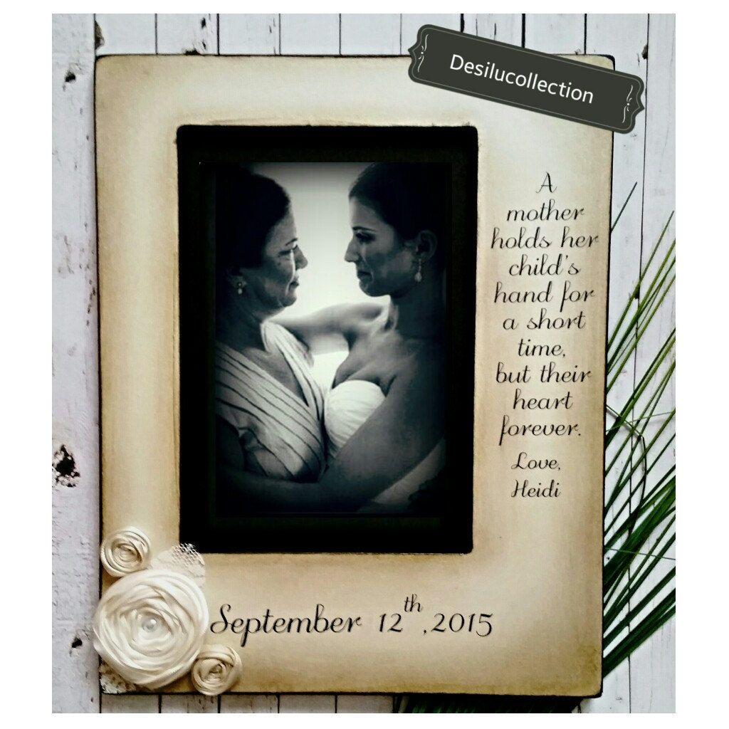 Mother Daughter Son Wedding Frame Bride Keepsake Personalize Picture ...