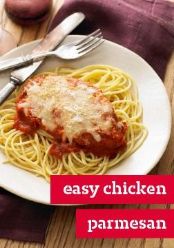 One of my favourite dishes is Chicken Parmesan. This recipe is a bit similar to mine.
