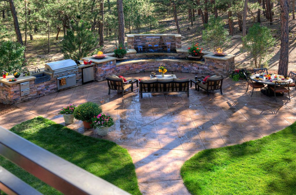 20 Stunning Cement Patio Ideas | Concrete patios, Stamped concrete ...