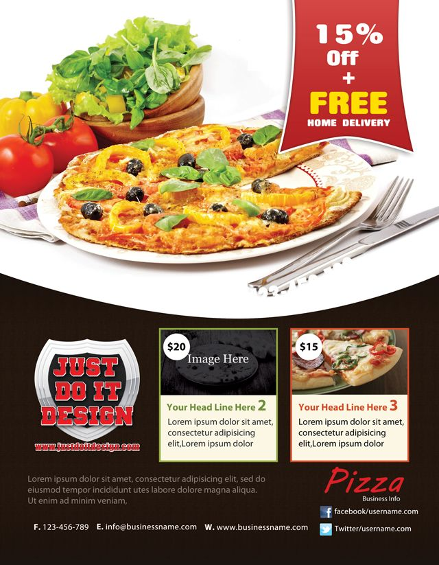 this new pizza flyer template is a perfect presentation for any