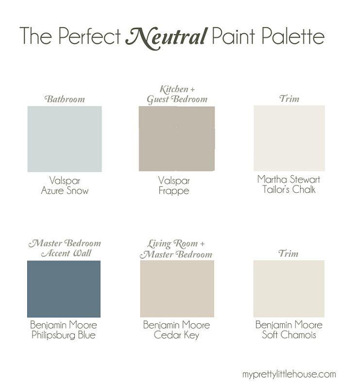 Whole Home Neutral Paint Palette Bathroom Paint Color Valspar Azure Snow Kitchen And Guest B Valspar Paint Colors Room Paint Colors Best Neutral Paint Colors