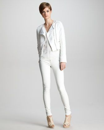 b2a34c38de8 J Brand Ready to Wear Annette Tweed Biker Jacket, Salma Textured ...