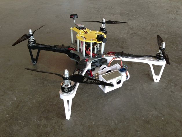 photo relating to 3d Printable Drone referred to as 3D Revealed Quadcopter Drone - How towards Produce your personalized