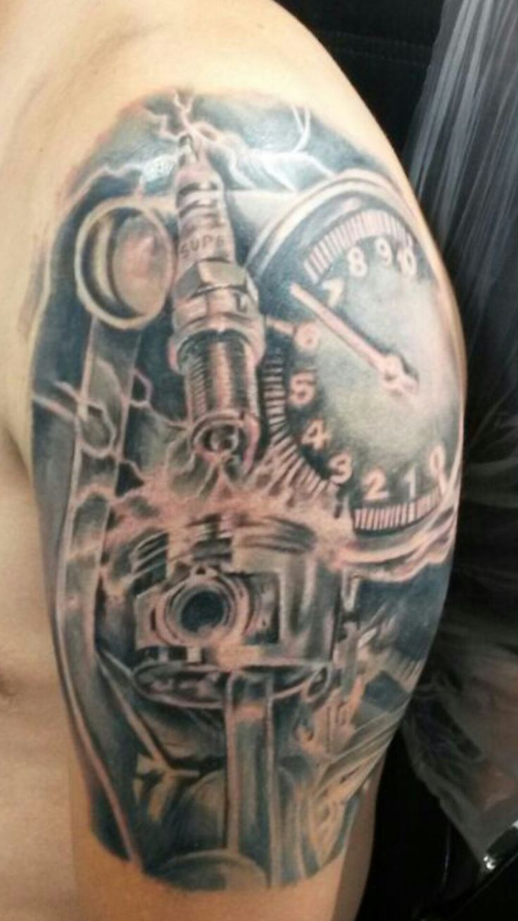 muscle car sleeve tattoo the image kid has it. Black Bedroom Furniture Sets. Home Design Ideas