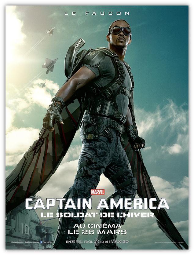 captain america le soldat de l 39 hiver affiche du faucon affiche de film pinterest. Black Bedroom Furniture Sets. Home Design Ideas