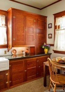 Restored Cabinets In A Renovated Craftsman Kitchen Bungalow