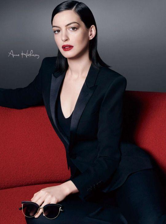 Anne Hathaway for Bolon Sunglasses Campaign, 2016   Anne hathaway ... b20de6e39a97
