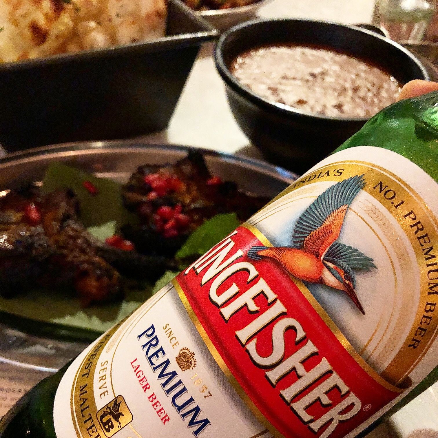 Not Wine But Cooling Kingfisher Beer With Dishoom S Crispy Amritsari Style Double Marinated Lamb Chops With Black Marinated Lamb Food Indian Food Recipes