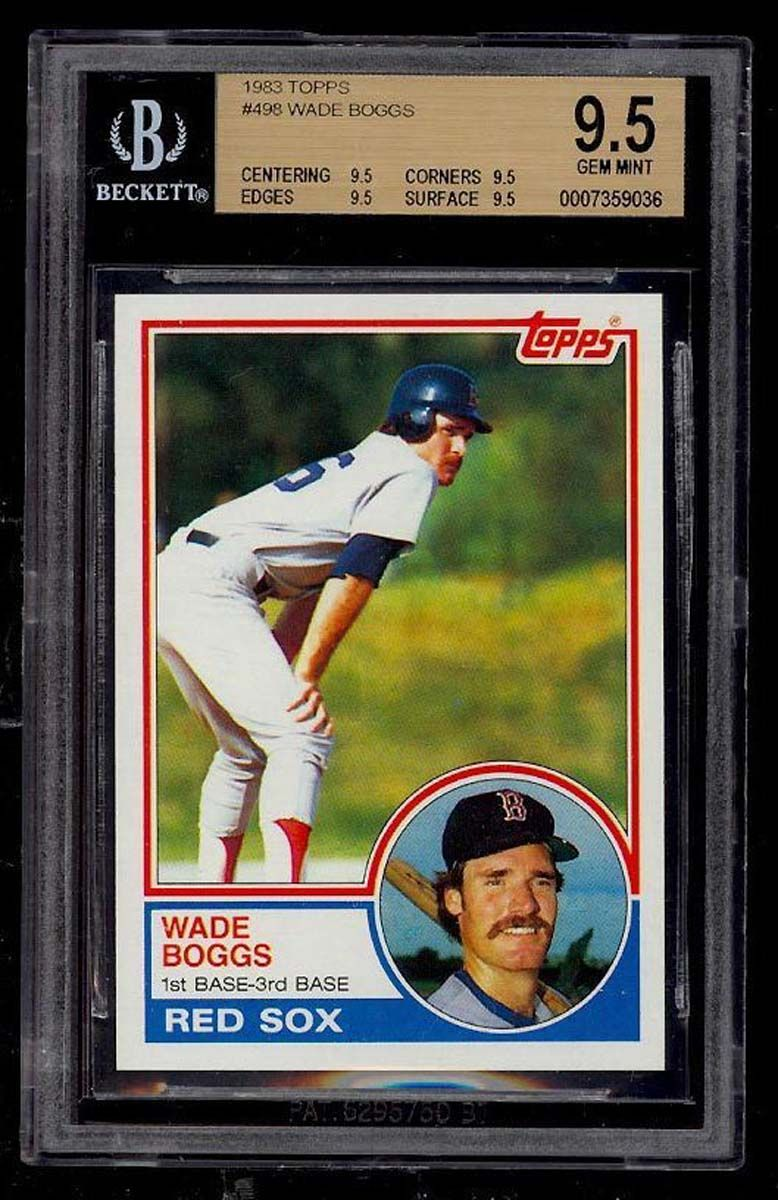 83 topps wade boggs rookie card baseball cards