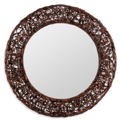 Cooper Classics Rosalie Rattan Mirror - BedBathandBeyond.com