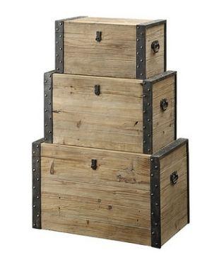 Wood Stacking Boxes By Lalaina Holidays Storage Trunk