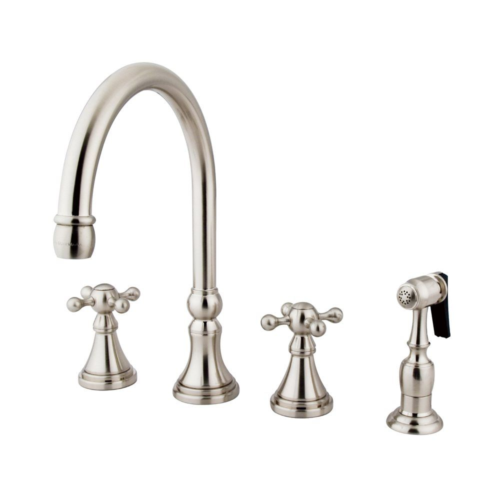 Elements of design chrome two handle kitchen faucet with