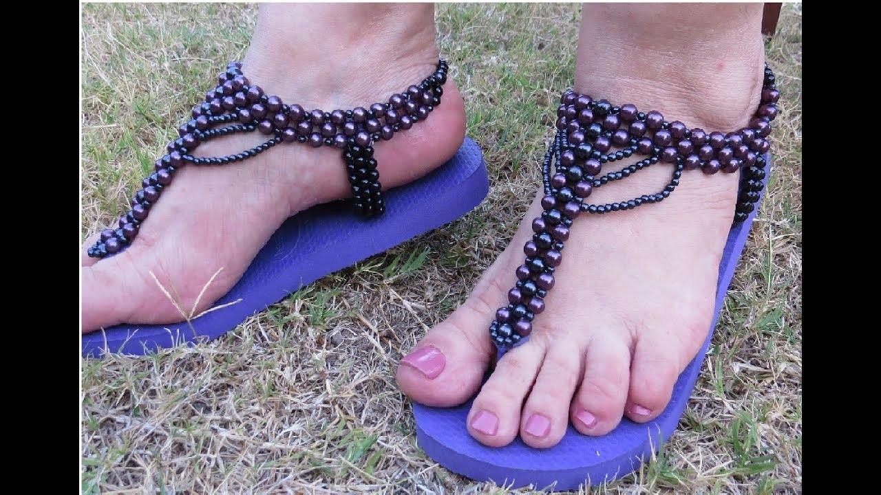 Curso de sandalias | Artesanato com chinelo de dedo