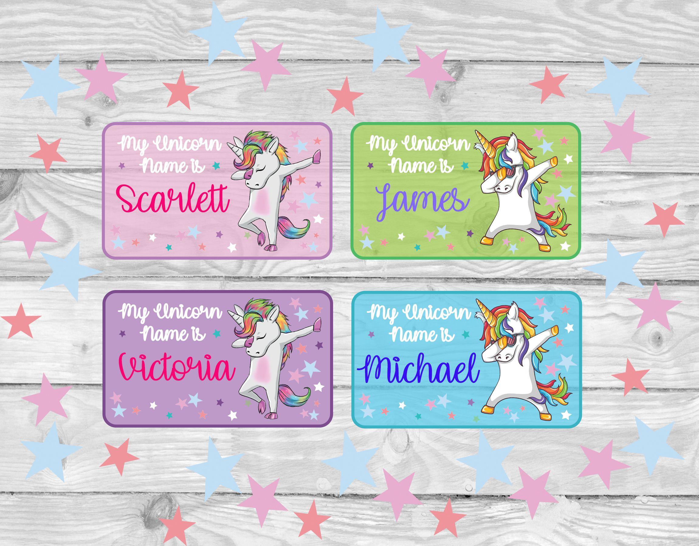 My unicorn name is unicorn stickers unicorn tags unicorn labels unicorn cupcake