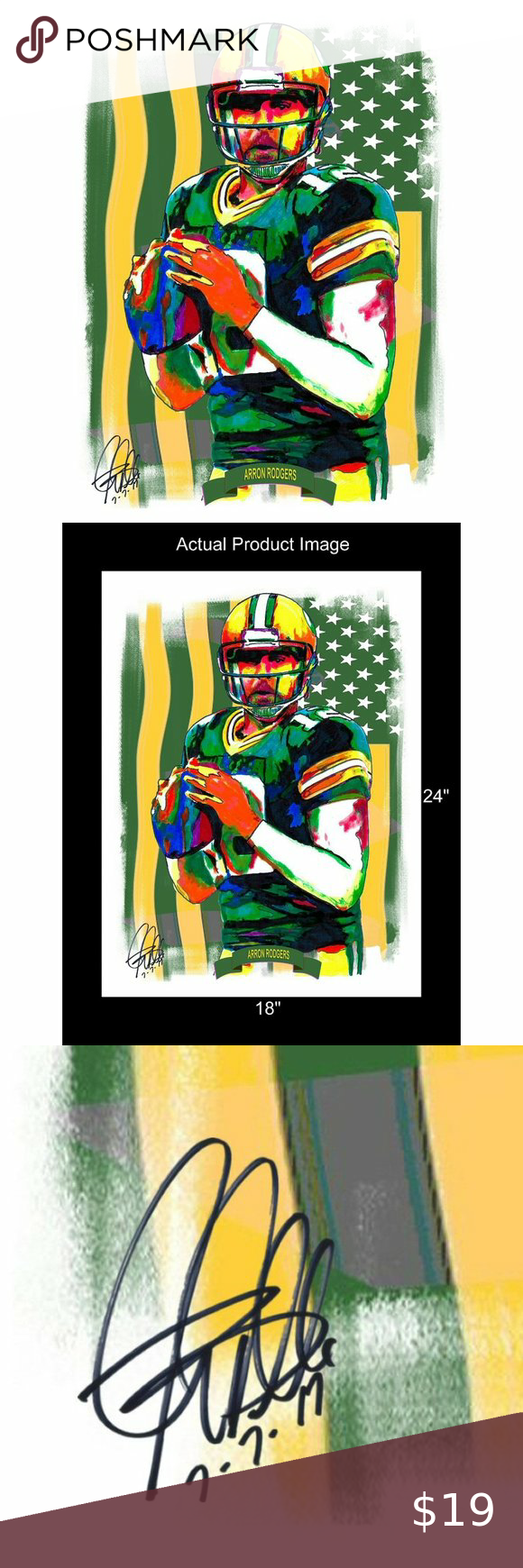Aaron Rodgers Green Bay Packers Poster Print 18x24 Aaron Rodgers ĺ Poster From Original Ink Drawing O In 2020 Original Ink Drawing Poster Prints Original Ink