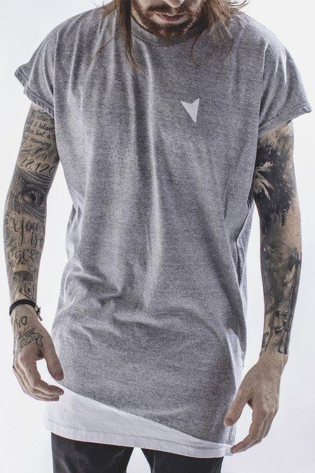 Camiseta Light Oversized Sleeveless - Right Here. Camiseta Mescla Oversized  sem Manga. Camiseta com Barra Assimétrica 994073acf5f