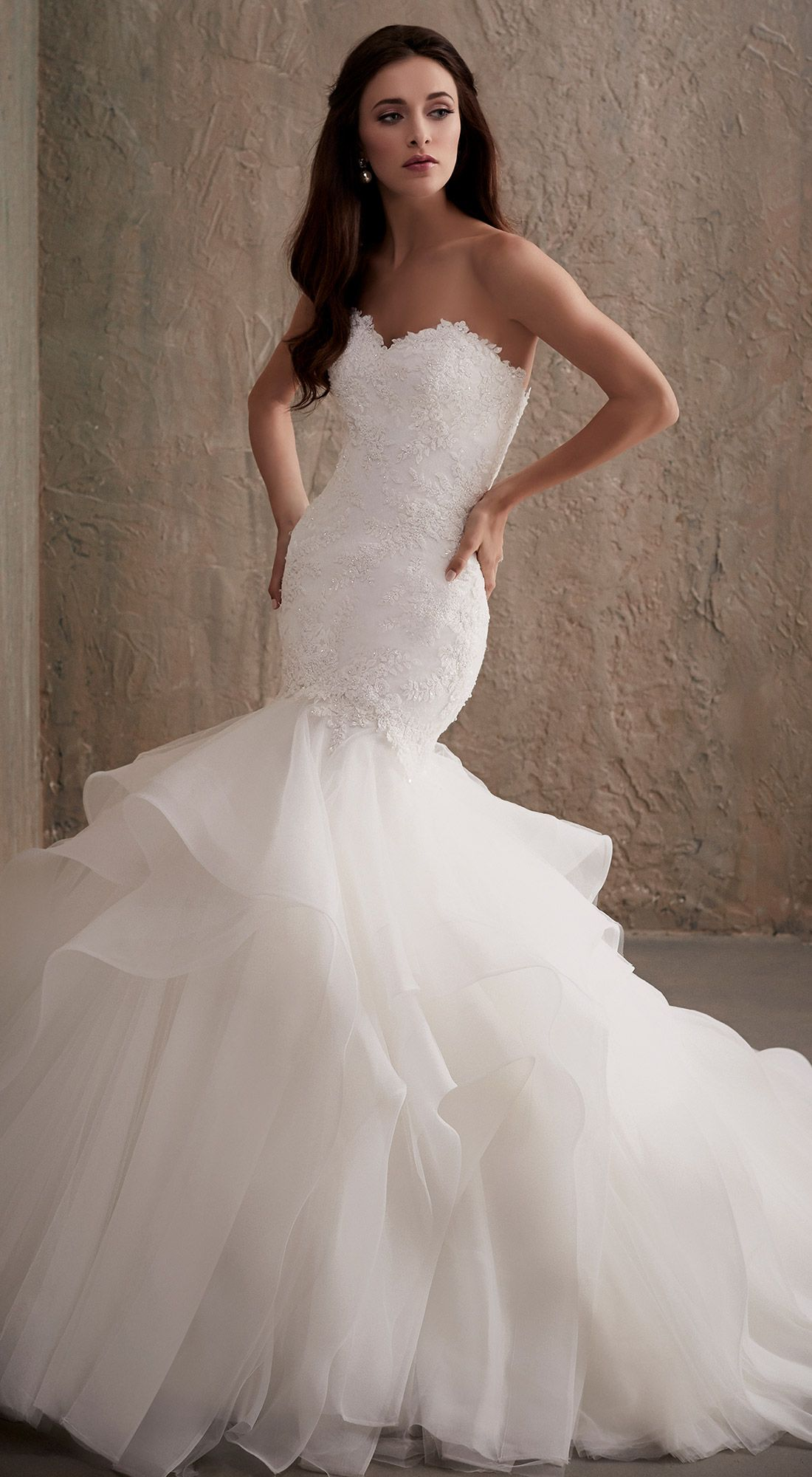 Wedding dresses mermaid style lace  Pin by Brittany Larsen on Dream Dress  Pinterest  Romantic lace